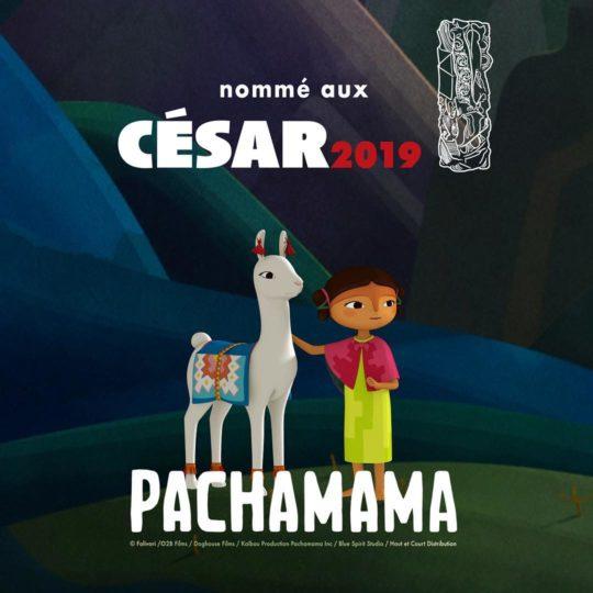 Le Film Pachamama, fabriqué dans nos studios, nommé dans la catégorie Meilleur Film d'Animation aux César 2019 !